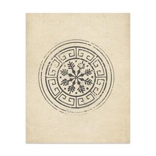 Flake Wheel Handmade Paper Print