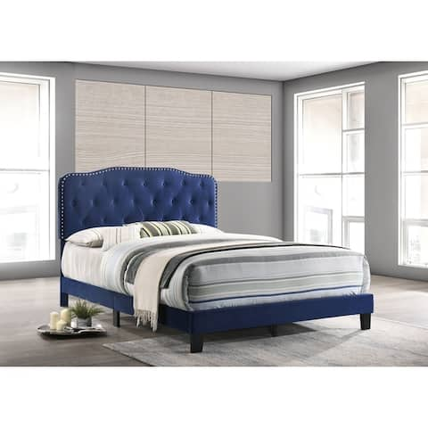 Best Quality Furniture Upholstered Button Tufted Panel Bed