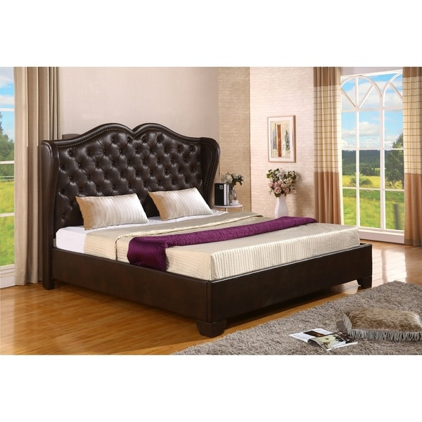 Shop Best Quality Furniture Upholstered WIngback Panel Bed