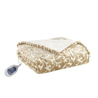 Beautyrest Tessa Microlight to Berber Heated Snuggle Wrap