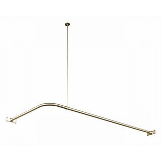 Kingston Brass Satin Nickel Corner Shower Rod