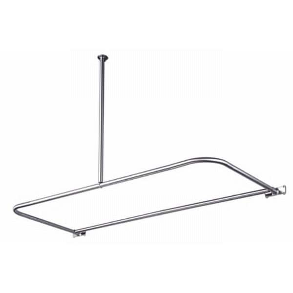 D-Type Chrome Shower Rod - Free Shipping Today - Overstock.com ...