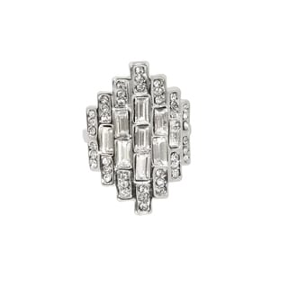 Eternally Haute Pave Emerald Cut Cocktail Ring