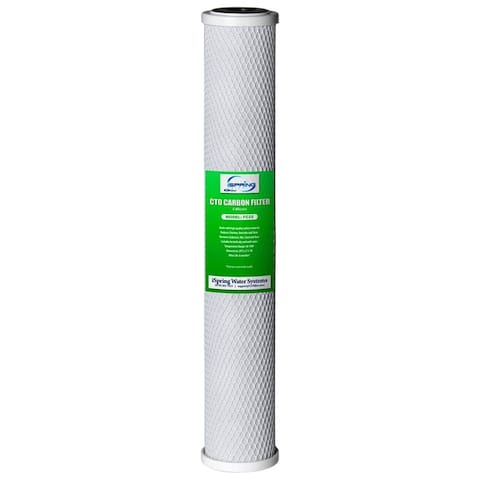 """iSpring 20""""X2.5"""" Whole House Replacement Water Filter CTO Carbon Block"""