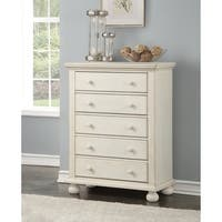 Allison Antique White 5-drawer Chest by Greyson Living