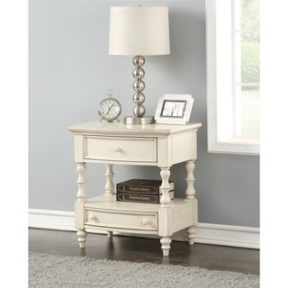 Greyson Living Sophie Antique-white-finished Wood and Metal 2-drawer Nightstand