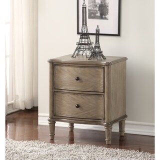Greyson Living Alexi Washed Sand Finished 2-drawer Nightstand