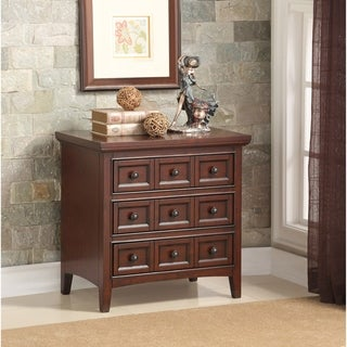 Greyson Living Waldon 3-drawer Cherry Wood Nightstand