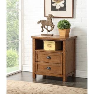 Greyson Living Ellison Pine Wood Two-drawer Nightstand