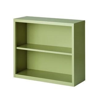 Hirsh 2-Shelf Metal Bookcase