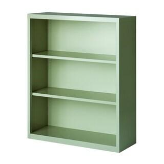 Hirsh 3-Shelf Metal Bookcase