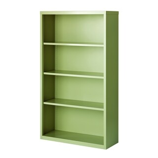 Hirsh 4-Shelf Metal Bookcase
