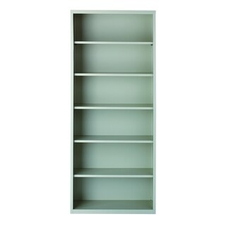 Hirsh 6-Shelf Metal Bookcase