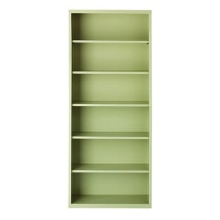 Hirsh 6-Shelf Metal Bookcase