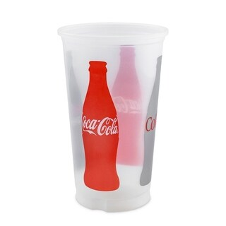 20 oz. Coke Design Trans Cups with Lids - Case of 375