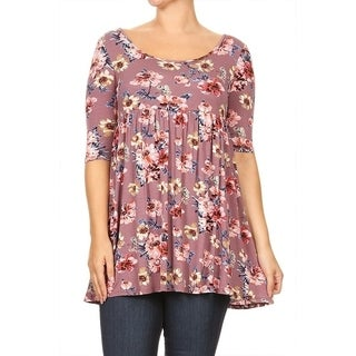Women's Plus Size Floral Pattern Tunic (More options available)