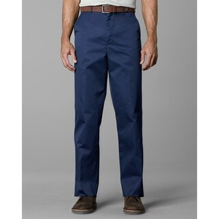 Twin Hill Mens Casual Pant Navy Poly/Cotton Flat Front