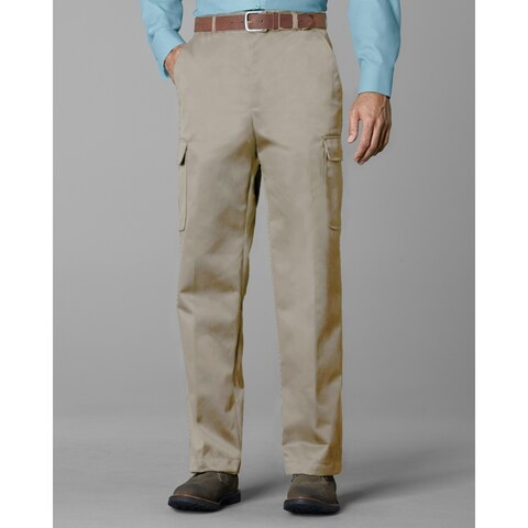 Twin Hill Mens Casual Pant Khaki Poly/Cotton Flat Front