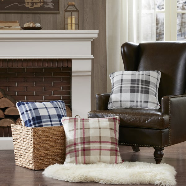 Woolrich Plush To Berber 20 X 20 Inch Square Pillow (3 Color Options)