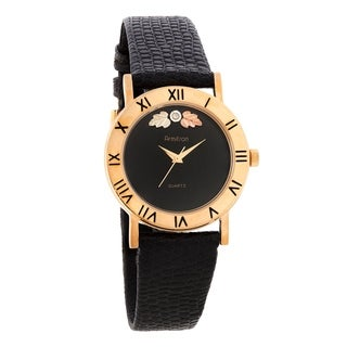 Ladies Black Hills Gold Watch with Black Face and Strap