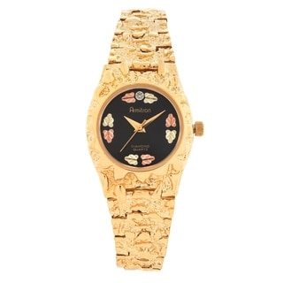 Ladies Black Hills Gold Watch with Black Face.