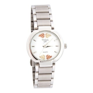 Ladies Black Hills Gold Watch with White Face - silver