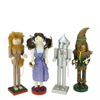 Set of 4 Decorative Wizard of Oz Wooden Christmas Nutcrackers