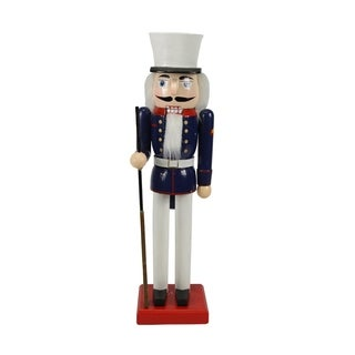"14"" Decorative Wooden Christmas Nutcracker Soldier in Dress Blues"