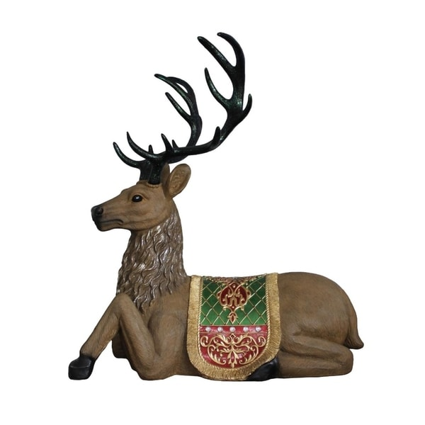 47 commercial grade sitting reindeer fiberglass christmas decoration - Fiberglass Christmas Decorations