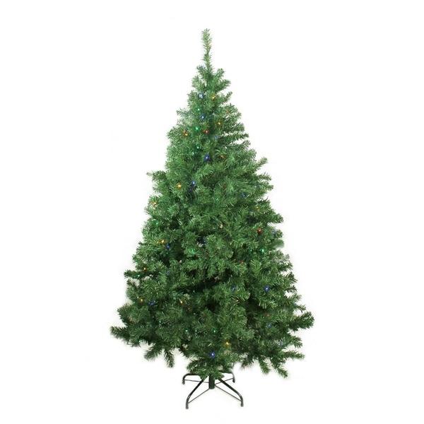 "Lead Free Christmas Trees: Shop 6' X 42"" Pre-Lit Mixed Classic Pine Medium Artificial"
