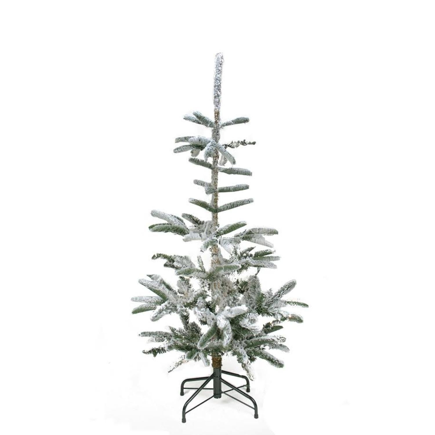 4.5' Flocked Noble Fir Artificial Christmas Tree - Unlit,...