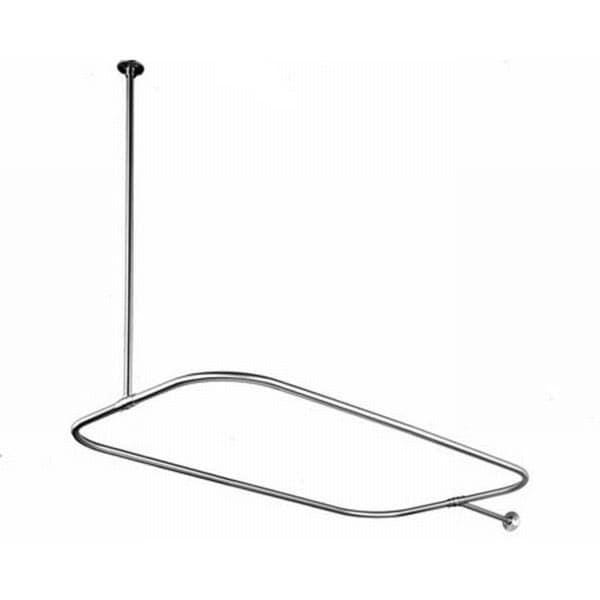 Rectangular Chrome Shower Rod
