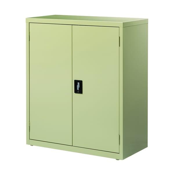 Hirsh 3 Shelf Storage Cabinet 18 Inch Deep Putty