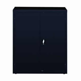 "Hirsh 3-Shelf Welded Storage Cabinet, 42""H x 36""W x 18""D, Black"