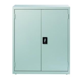 "Hirsh 3-Shelf Welded Storage Cabinet, 42""H x 36""W x 18""D, Light Gray"