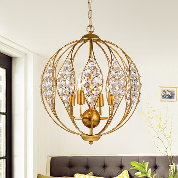 Warehouse of Tiffany Codina Antique Gold Leaf 13-inch 3-light Pendant