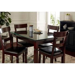 Glass dining room kitchen tables for less for Dining room table 36 x 48