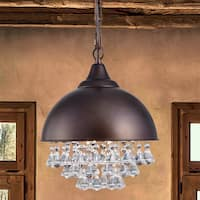 Mediana Antique-bronze 12-inch 1-light Dome Pendant