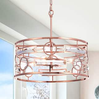 chandelier pendants square chandeliers home gold rose ceiling subcat lights inch light finish pendant less overstock judoc for garden