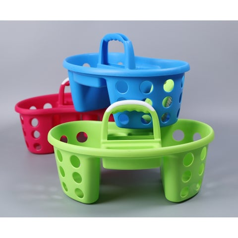 Portable Plastic Tool and Cleaning Caddy