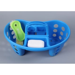 Portable Plastic Tool and Cleaning Caddy (Option: Blue)