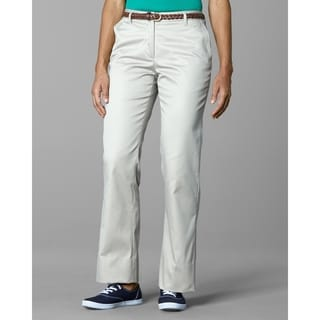 Twin Hill Womens Casual Pant Khaki Poly/Cotton Flat Front (Option: 16w)