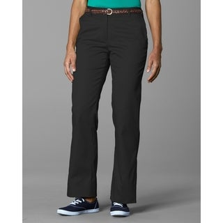Twin Hill Womens Casual Pant Black Poly/Cotton Flat Front