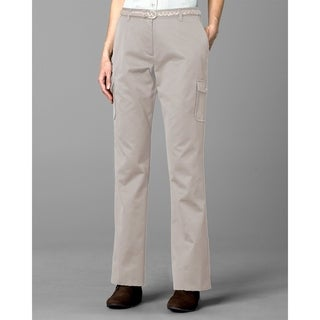 Twin Hill Womens Casual Pant Khaki Poly/Cotton Flat Front