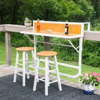 Harper Blvd Meade Balcony Bar Bistro 3pc Set White W Faux Oak