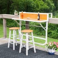 Harper Blvd Meade Balcony Bar/Bistro 3pc Set - White w/ Faux Oak