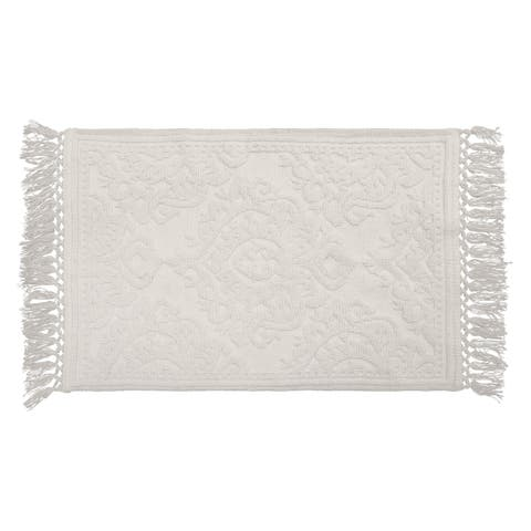 Jean Pierre Ricardo Cotton Fringe 21 x 34 in. Bath Rug
