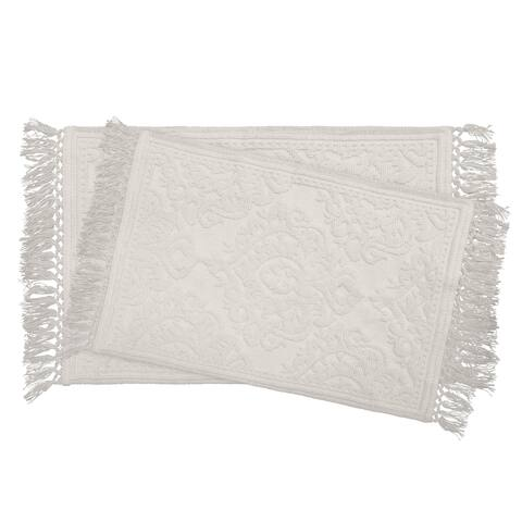 Jean Pierre Ricardo Cotton Fringe 2-Piece Bath Rug Set