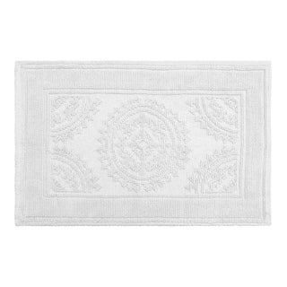 Jean Pierre Cotton Stonewash Medallion 17 x 24 in. Bath Rug