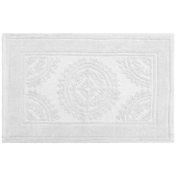 Jean Pierre Cotton Stonewash Medallion 21 x 34 in. Bath Rug